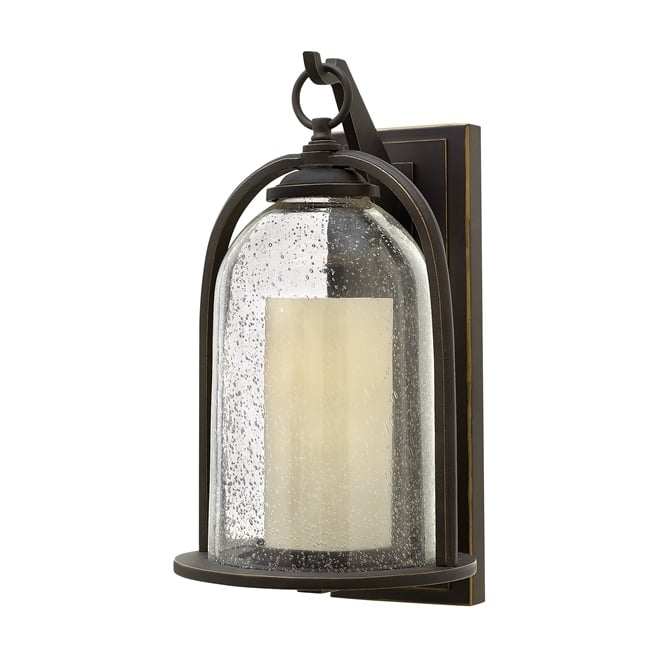 Hinkley Quincy Outdoor Medium Wall Lantern In Oil Rubbed Bronze Finish HK/QUINCY/M