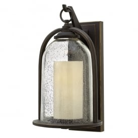 Quincy Outdoor Medium Wall Lantern In Oil Rubbed Bronze Finish HK/QUINCY/M