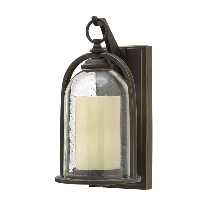 Hinkley Quincy Outdoor Small Wall Lantern In Oil Rubbed Bronze Finish HK/QUINCY/S