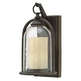 Quincy Outdoor Small Wall Lantern In Oil Rubbed Bronze Finish HK/QUINCY/S