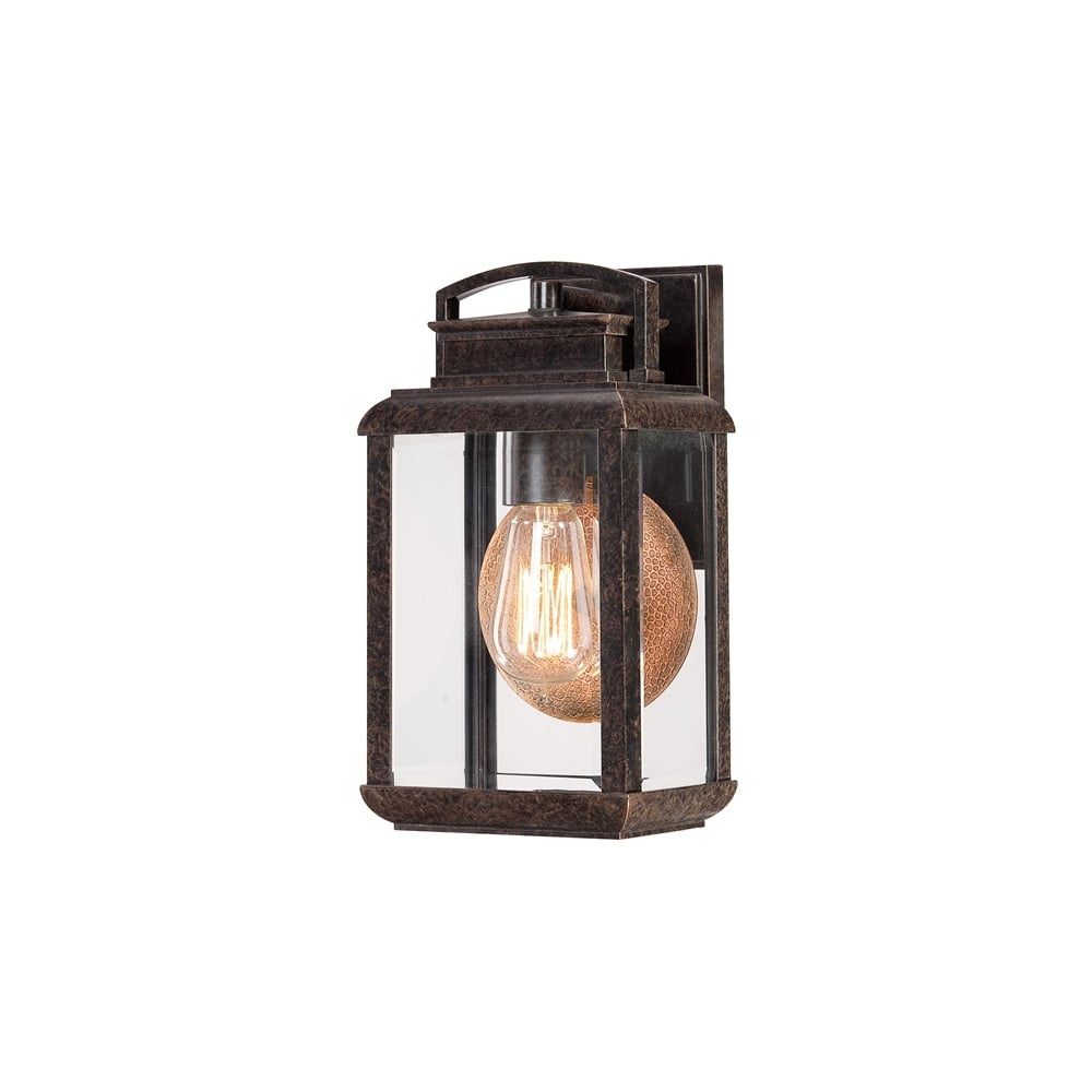 Byron Outdoor Vintage Small Wall Lantern In Imperial Bronze Finish QZ BYRON S