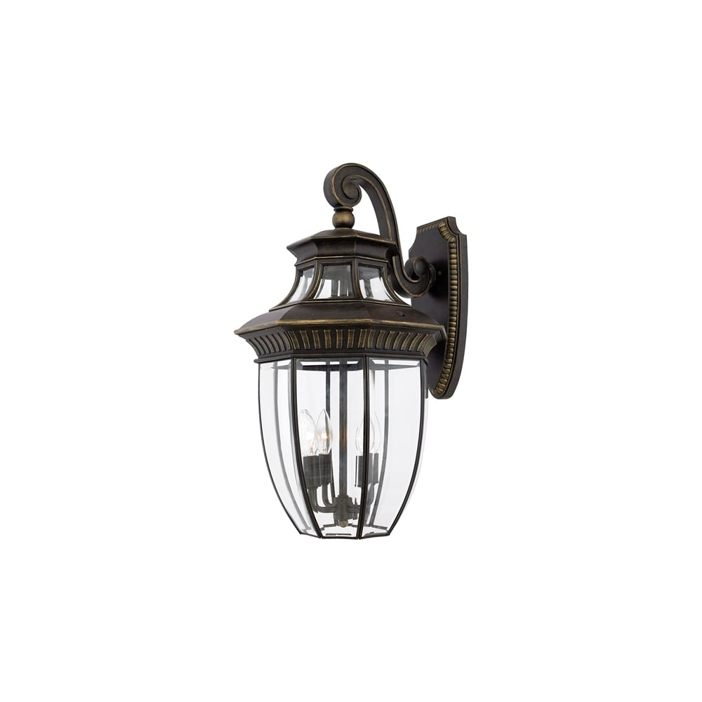 Georgetown Outdoor Large Wall Lantern In Imperial Bronze Finish QZ GEORGETOWN2 L
