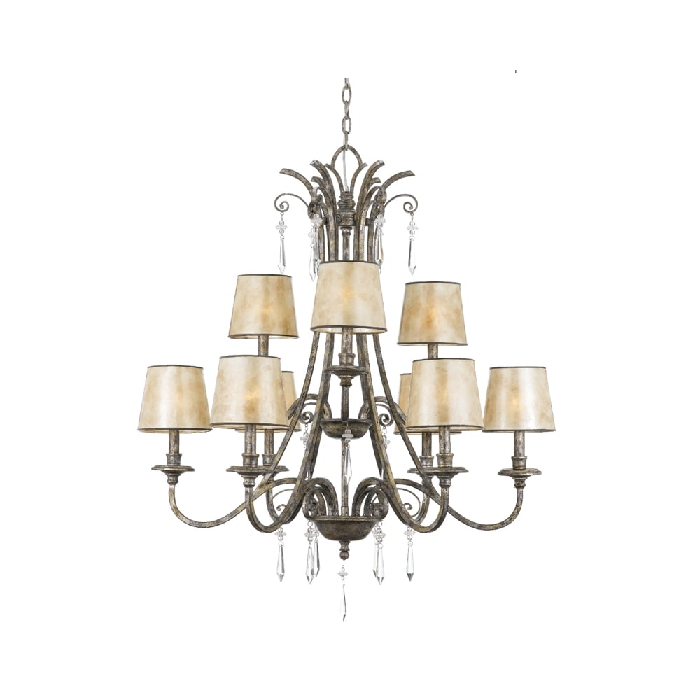 lighting company p chandelier and currey leaf silver quantum