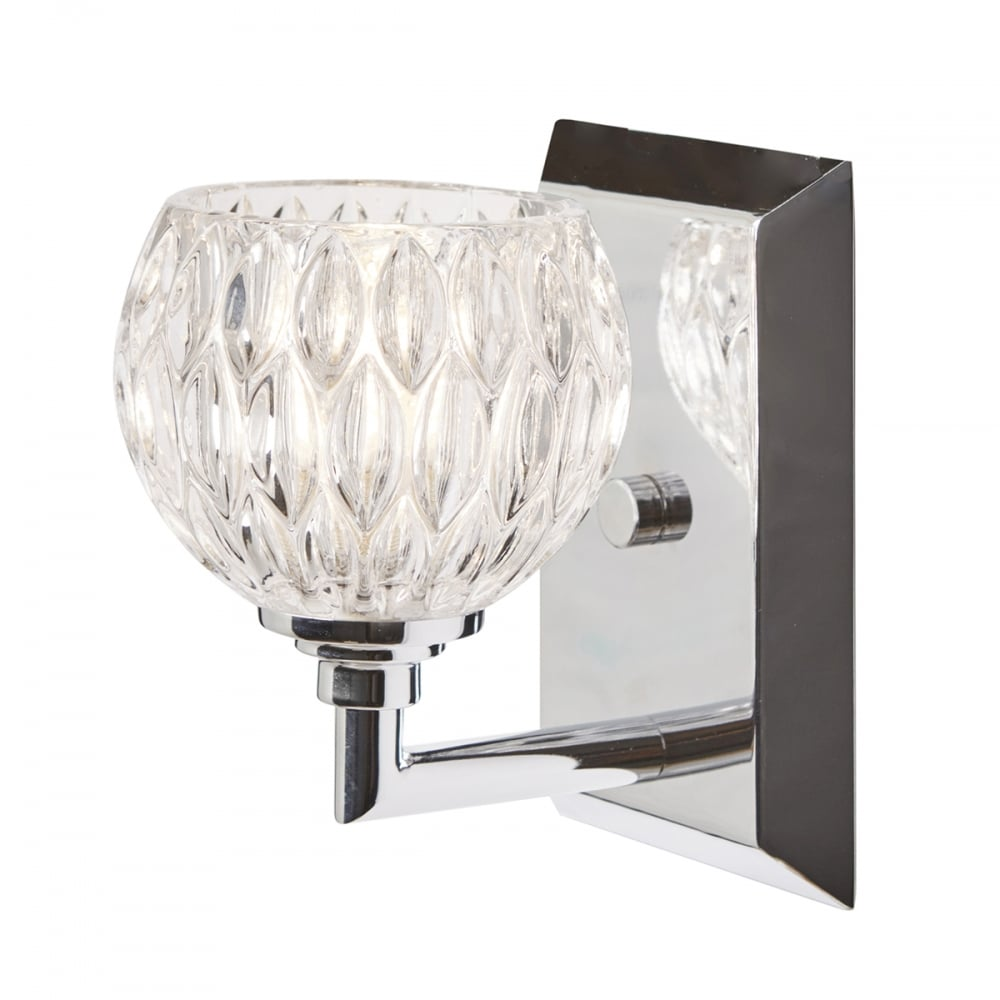 Led Bathroom Centre Light quoizel serena led bathroom wall light in polished chrome finish