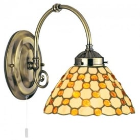 Raindrop Brown Tiffany Wall Light - 3141-1BR