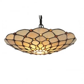 Raindrop Vintage Non Electric Tiffany Ceiling Pendant Light with Brown Droplet 1468BR