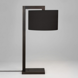 Ravello Bronze Table Lamp with Black Shade 4556 + 4094