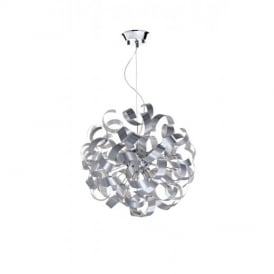 RAW1350 Rawley 9 Light Aluminium Ceiling Pendant Light