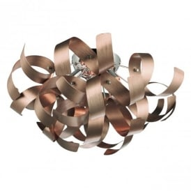 Rawley 4 Light Copper Flush Ceiling Light RAW0464