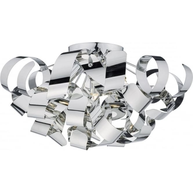 Dar Lighting Rawley 5 Light Polished Chrome Ceiling light RAW0555