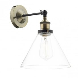 RAY0775 RAY 1 Light Clear Glass Wall Light