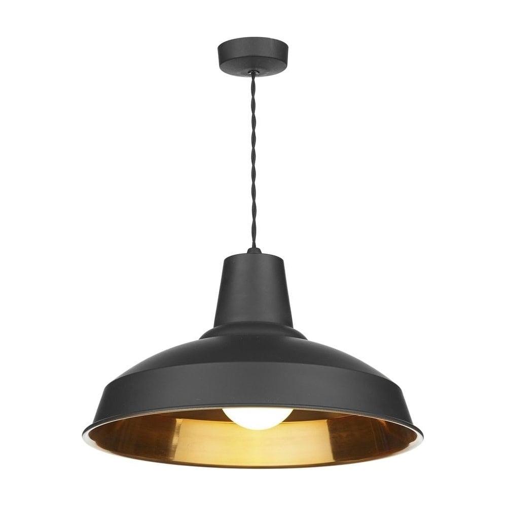 Dar lighting rec0154 reclamation stylish 1 light black for Stylish lighting