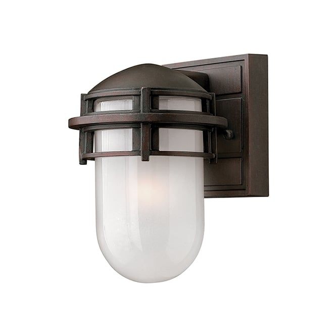 Hinkley Reef Contemporary Outdoor Mini Wall Lantern In Victorian Bronze Finish HK/REEF/MINI VZ