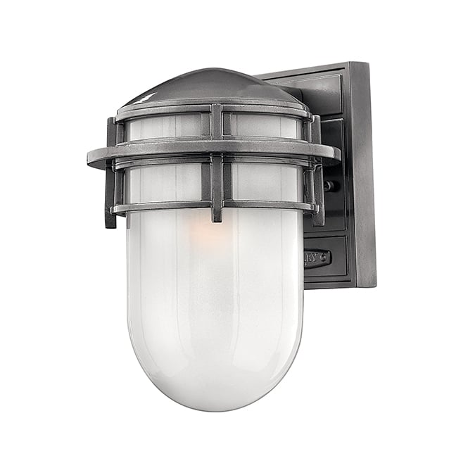 Hinkley Reef Contemporary Outdoor Small Wall Lantern In Hematite Finish HK/REEF/SM HE