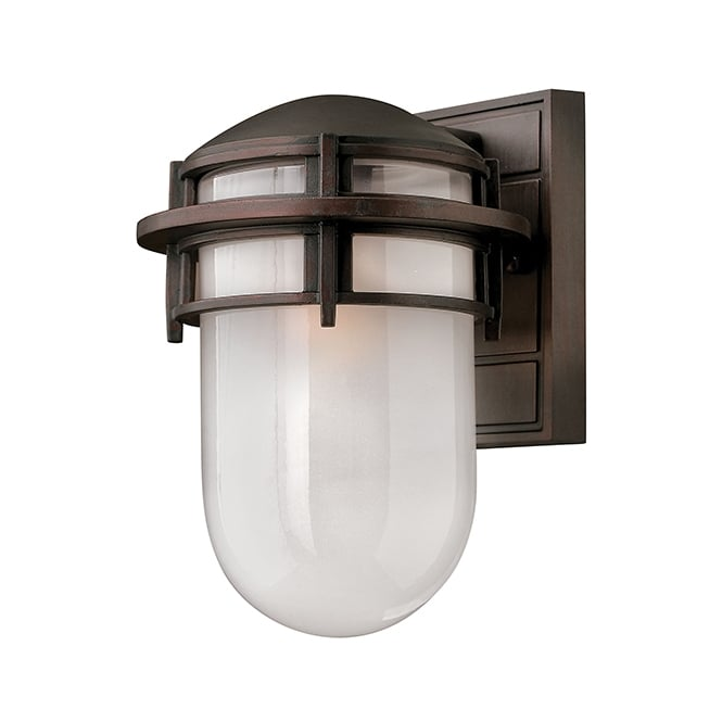Hinkley Reef Contemporary Outdoor Small Wall Lantern In Victorian Bronze Finish HK/REEF/SM VZ