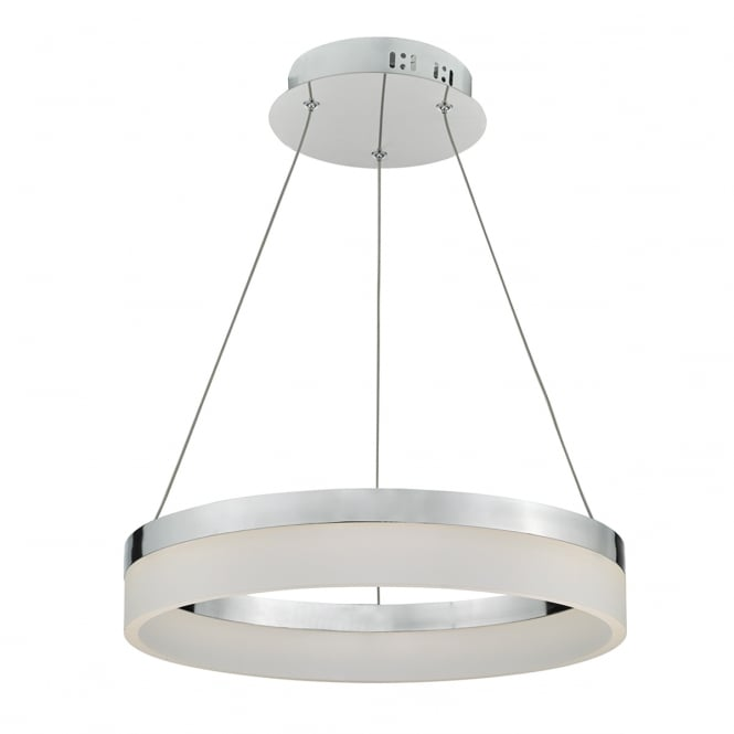 Dar Lighting Reeve Polished Aluminium Ring Ceiling Pendant Light REE1750