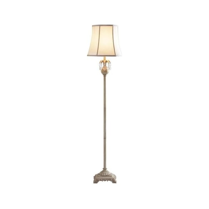 Dar Lighting REG4933/X Regalia Floor Lamp In Antique Cream With Shade