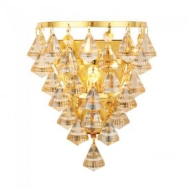 Renner Modern Champagne Crystal Glass Wall Light 61246