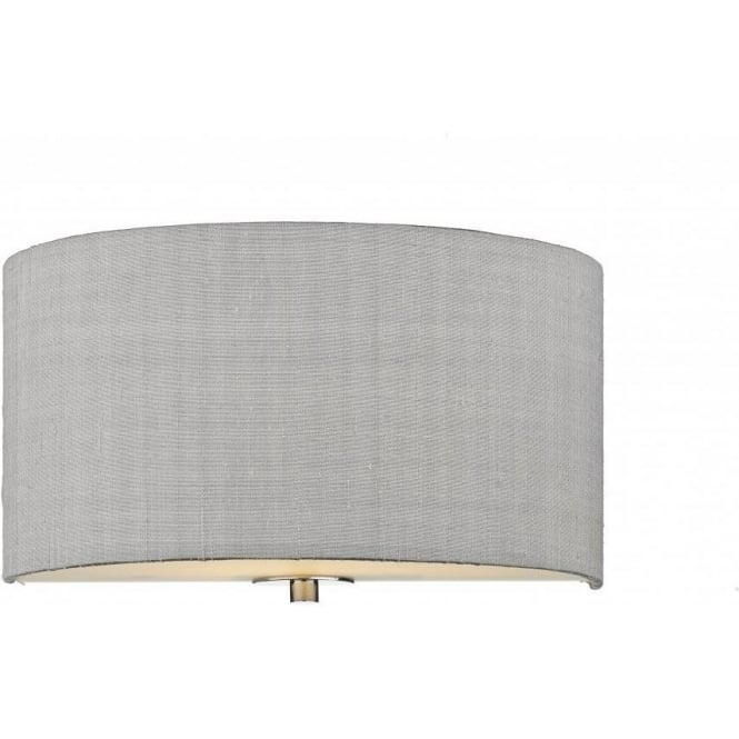 Light Shade Studio Renoir 1 Lt Wall Light in Silver Grey REN0739