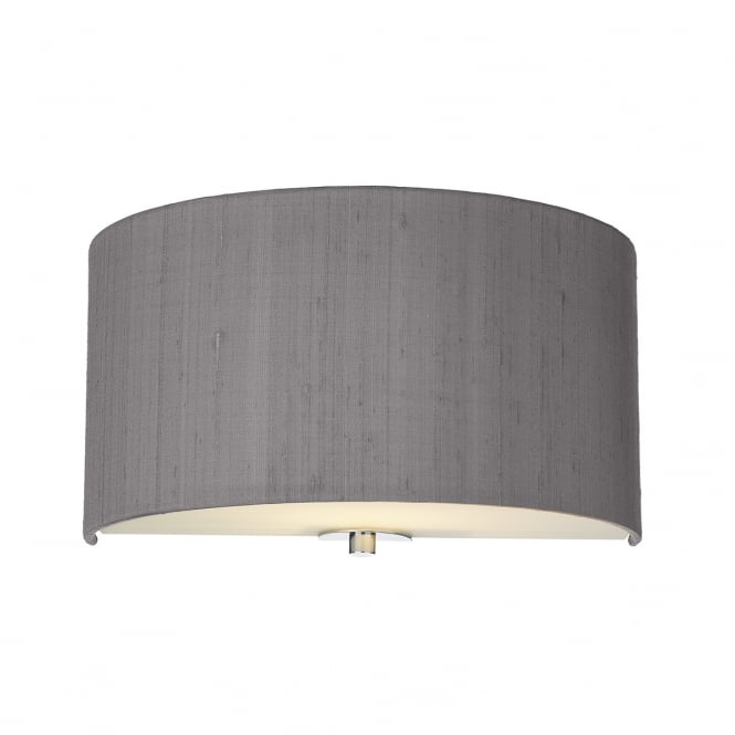 Dar Lighting Renoir 30 cm Modern Wall Light With Charcoal Silk Shade REN0737