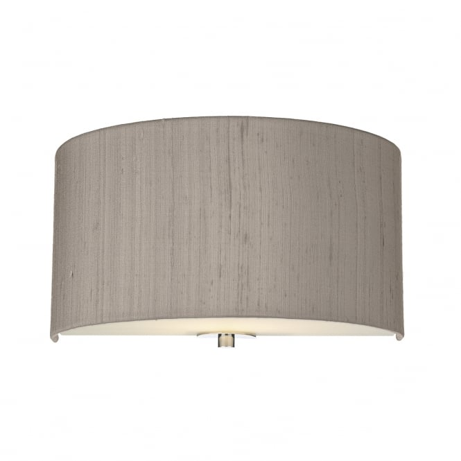 Dar Lighting Renoir 30 cm Modern Wall Light With Truffle Silk Shade REN0772