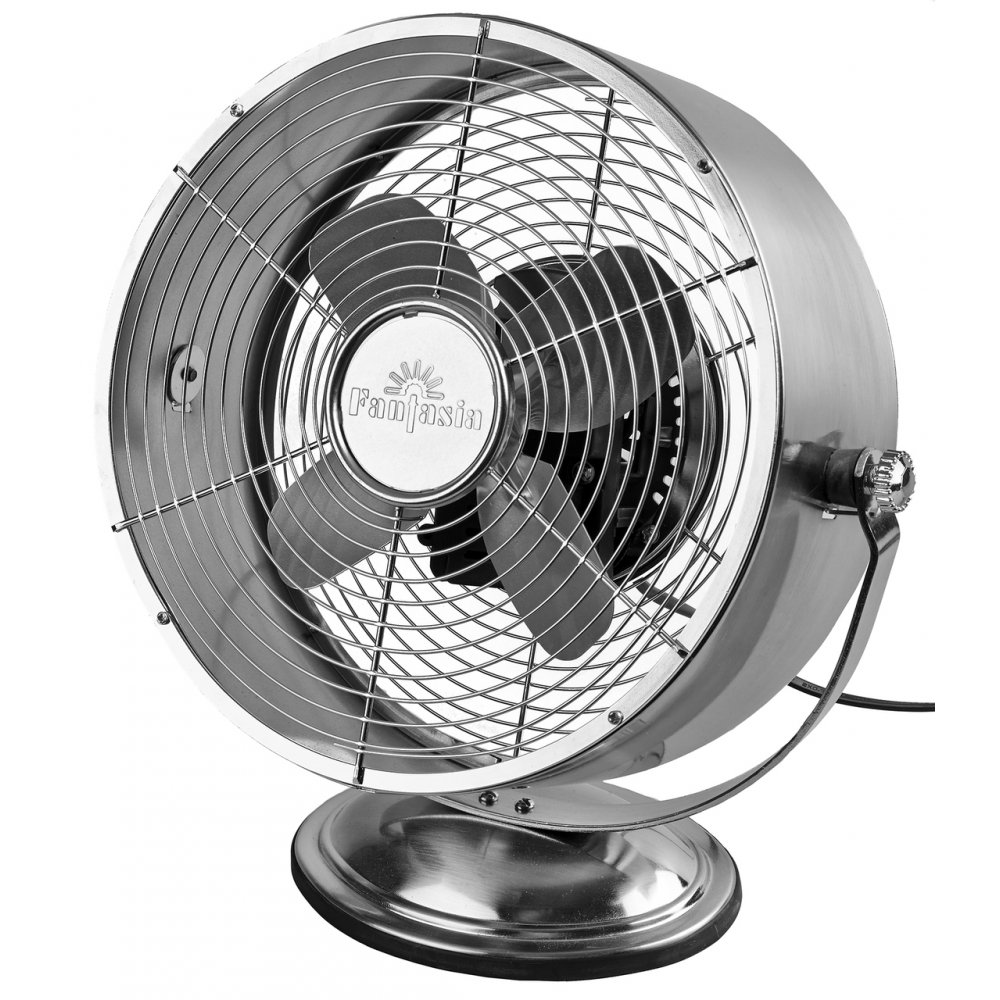 fantasia retro 10 desk table fan 2 speeds adjustable tilt