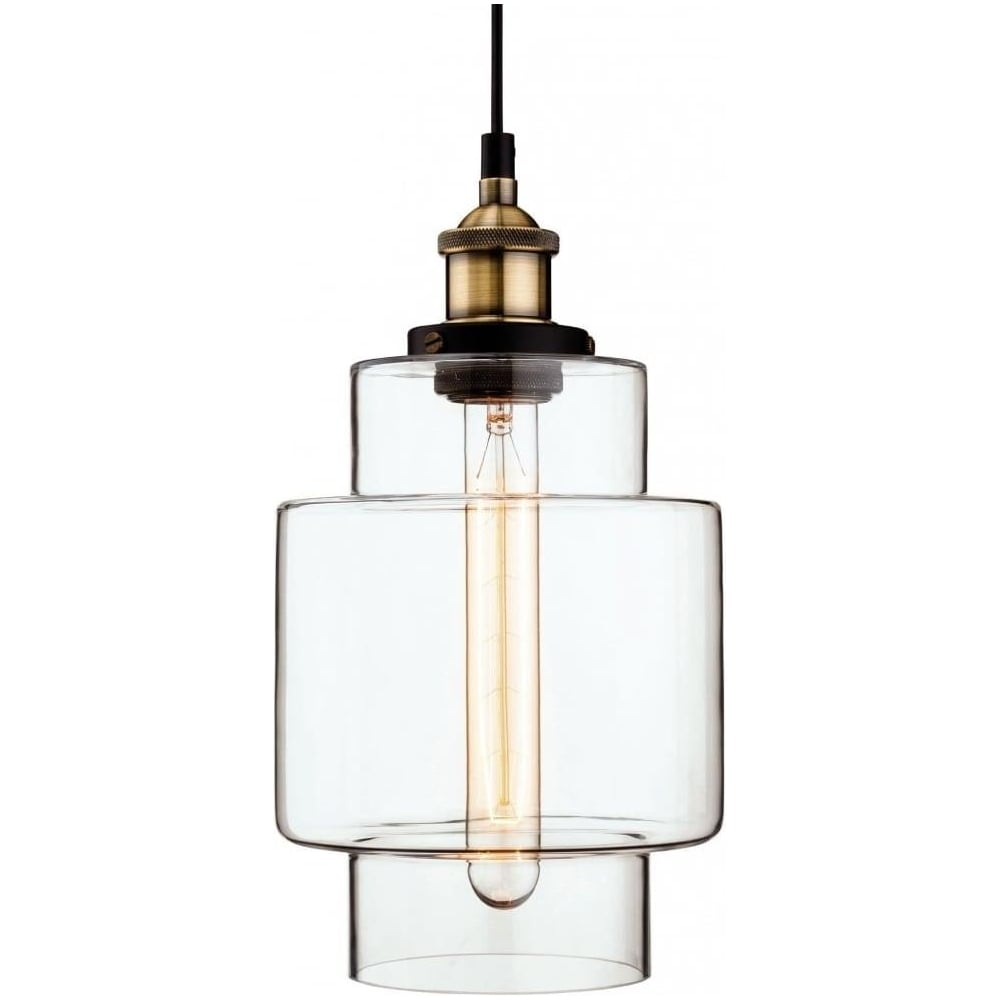 Firstlight Retro Vintage Style Edison Tall Glass Ceiling