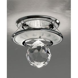 RF242 Recessed Downlight In Chrome And Crystal