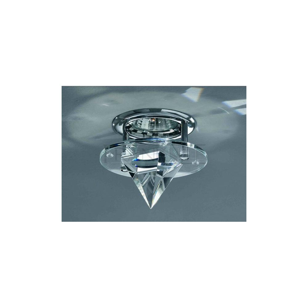 Franklite Lighting RF243 Recessed Downlight In Chrome And Crystal Franklite