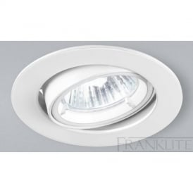 RF274 Mains Voltage Halogen White Tilt Recessed Downlight