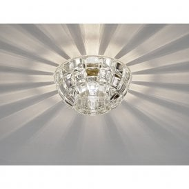 Ria Crystal Diamond Round Downlight In Polished Chrome Finish IL31843CH