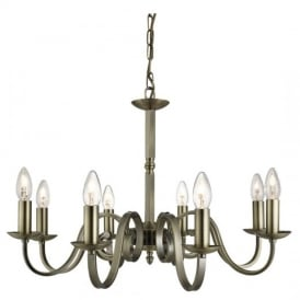 Richmond Traditional 8 Light Ceiling Pendant Light in Antique Brass Finish 1508-8AB