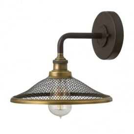 Rigby 1 Light Buckeye Bronze Wall Light HK/RIGBY1 KZ