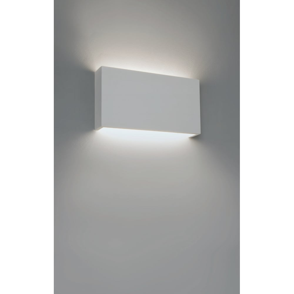 Astro Lighting Rio 325 Contemporary Wall Light In White Plaster Finish 1325005 Lighting From The Home Lighting Centre Uk