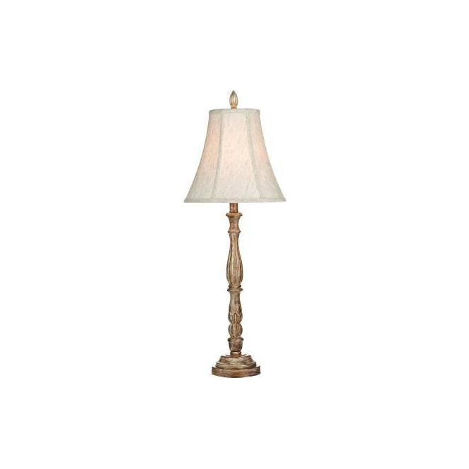 Dar Lighting ROG4249/X Rogan Natural Wood Effect Table Lamp with Shade