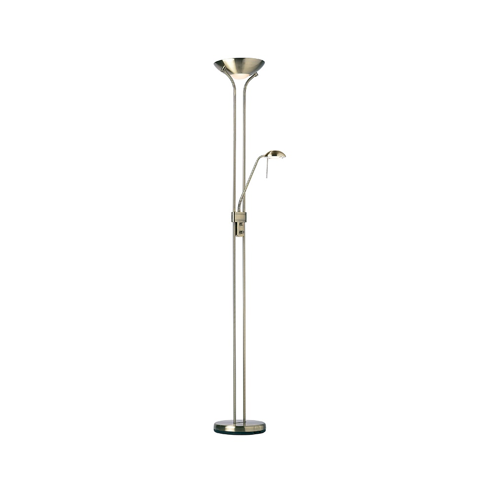 Mother and child floor lamp in antique brass for Mother and child floor lamp antique brass