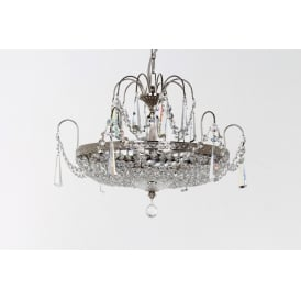 Rostock Ceiling Chandelier In Nickel Finish With Lead Crystal Strass ST00127/46/06/N