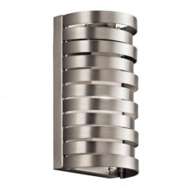 Roswell 1 Light Nickel Wall Light Linear Design KL/ROSWELL1