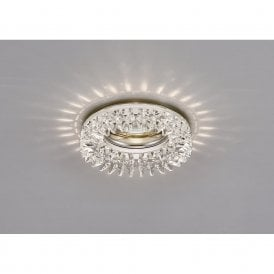 Round Crystal Downlight Frame In Polished Chrome Finish IL30833CH