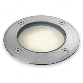 Round Driveover / Walkover Light In Stainless Steel Finish IP67 6002