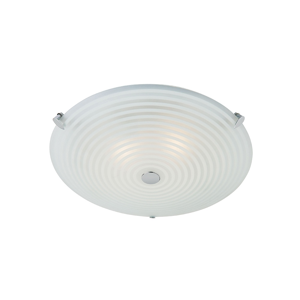 Endon roundel frosted and clear glass flush ceiling light - Clear glass ceiling light ...