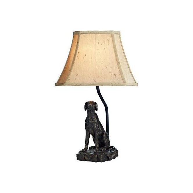 Dar Lighting ROV4263/X Rover Bronze Dog Table Lamp with Shade