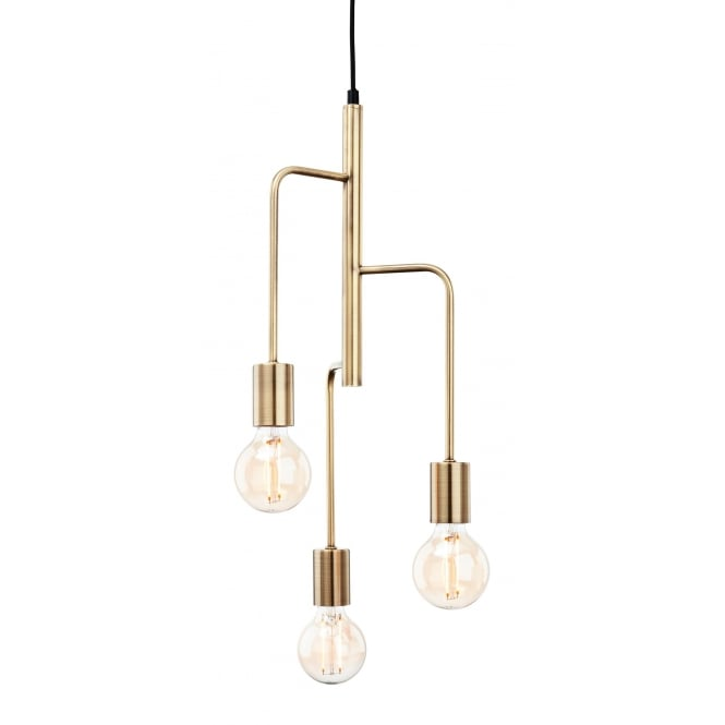 Firstlight Roxy Contemporary 3 Light Ceiling Pendent In Antique Brass Finish 4866AB