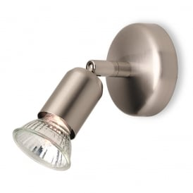 Runner Modern Single Spotlight in Brushed Steel 7001BS
