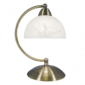 Saxby Antique Brass and Glass Touch Table Lamp SAX4075