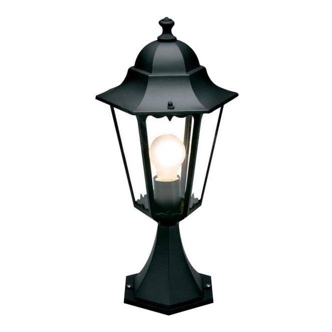 1124L Southampton Exterior Matt Black Pedestal Lantern
