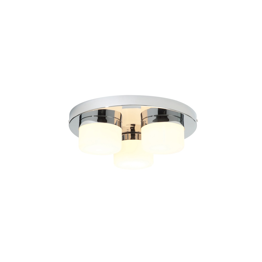 Saxby lighting 34200 pure triple round plate bathroom chrome ceiling 34200 pure triple round plate bathroom chrome ceiling light aloadofball Images