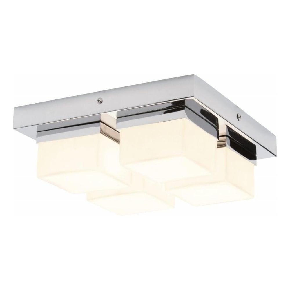 34277 Square 4 Light Bathroom Chrome Flush Ceiling
