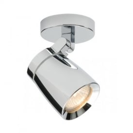 39166 Knight 1 Light Bathroom Chrome Ceiling Spotlight