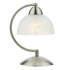 Saxby Satin Chrome and Glass Touch Table Lamp SAX4046
